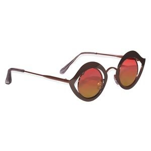Accessories - Retro Metal Eye Frame Sunglasses